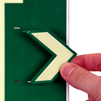 LED Exit 1 Sided Sign with Punch-Out Arrows