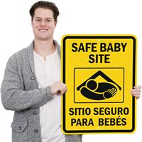 Safe Baby Site Bilingual Sign
