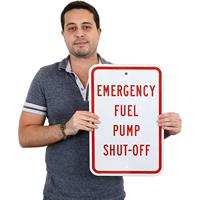 Emergency Fuel Pump,Warning Sign