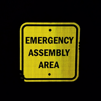 Emergency Assembly Area Sign In Square