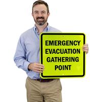 Emergency Evacuation Gathering Point Reflective Sign