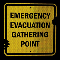Fire Drill Evacuation Sign