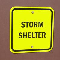 Emergency,Storm Shelter Sign