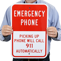 Emergency Phone, Picking Up Phone Will Call 911 Automatically