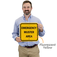 Square Emergency Muster Area Sign