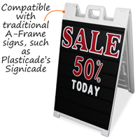 A-Frame Sign Holder Insert and Letter Kit