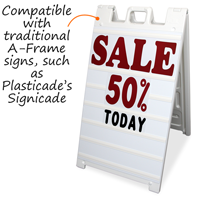 White Add-A-Message Board Kit, A Frame Sign Holder
