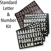 Letter And Number Kit For Black Boards