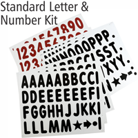 Letter And Number Kit For White Boards