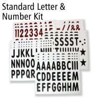 Jumbo Letter & Number Kit For Roadside Standard White Message Boards