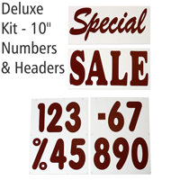 Jumbo Letter & Number Kit Message Board