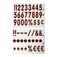 Deluxe White Message Boards And Number Kit