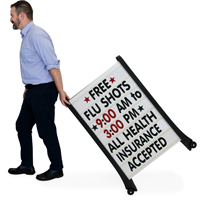 Custom BigBoss A-Frame Sidewalk Sign