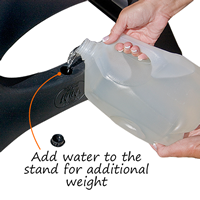 add water to increase weight and wind resistance of your sidewalk sign