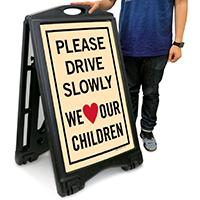 Children Safety A-Frame Portable Sidewalk Sign