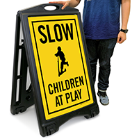 Slow Children At Play A-Frame Portable Sidewalk Sign