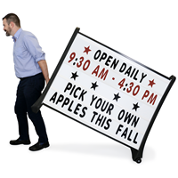 Quick-Load A-Frame Roadside Sign Holder and Letter Kit