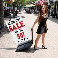 Sidewalk Sign Holder and Letter Kit - White