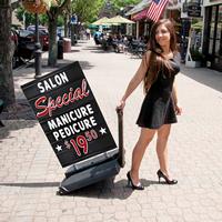 Delux Black Board Sidewalk sign