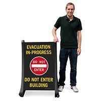 Do Not Enter Building Portable Sign