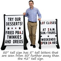 Compare two sizes of sidewalk signs