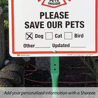 Pet rescue sign for front yard