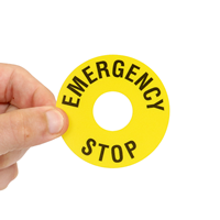 Machine Safety Label For Emergency