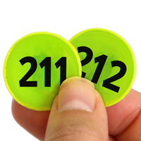 Consecutively Reflective Circles with Numbers