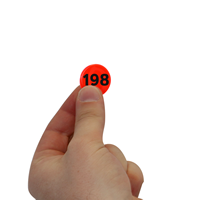 Fluorescent Orange Consecutively Numbered Dots