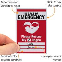 In Case Of Emergency Label
