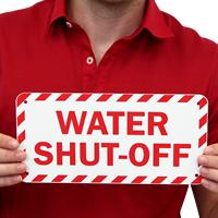 Emergency Water Shut-Off Label