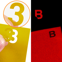 Die Cut Letters Numbers Symbols Labels Sheet