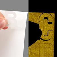 Die Cut Numbers Letters Symbols Labels Sheet
