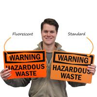 Hazardous Waste OSHA Warning Sign