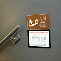 Emergency Evacuation Plan Signs