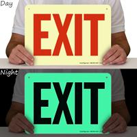 Exit Entrance Sign
