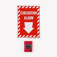 Evacuation Alarm Fire Signs