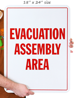Emergency Evacuation Assembly Sign