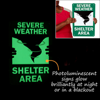 Severe Weather Shelter Area Signs