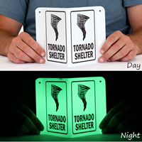 Emergancy Tornado Shelter Sign