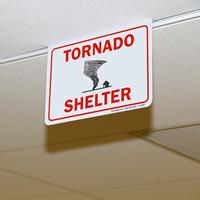2-Sided Tornado Shelter Sign