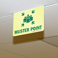 2-Sided Muster Point Projecting Sign