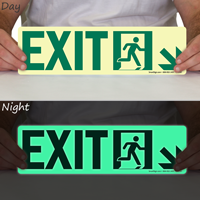 Directional Exit Sign, Arrow Down Sign