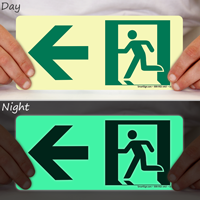 Directional Emergency Signs, Arrow Left