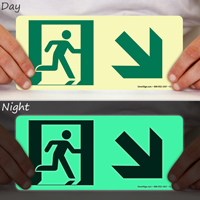 Directional Emergency Signs, Arrow Down