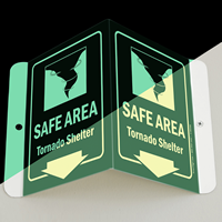 Emergency Shelter Area Sign, 6 in. x 5 in.