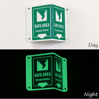 Glow-In-Dark Projecting Emergency Shelter Sign