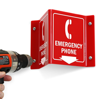 2-Sided Projecting Emergency Sign