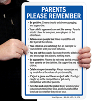 Parents Please Remember Playground Rules Signs