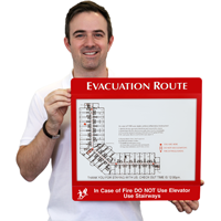 Evacuation Map Sign Holder Frame